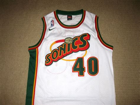 nba shawn kemp seattle supersonics home swingman jersey