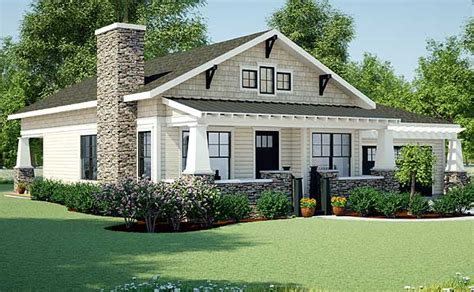 one story craftsman bungalow house plans plan w18267be craftsman ranch shingle style cottage