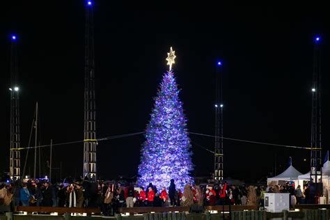 the wharf lights up its first christmas tree dc refined