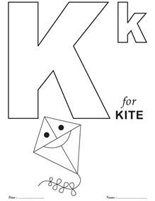 printables alphabet k coloring sheets download free