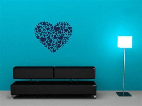 wall stickers hearts collage of hearts