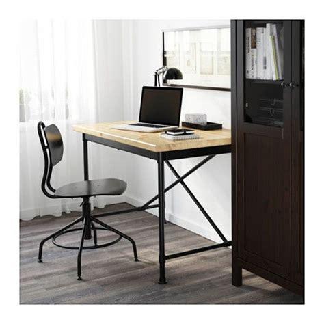 Pine Office Desk Kullaberg Desk Pine Black 110x70 Cm Industrial Pine And Tables