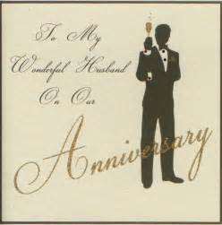 image gallery husband anniversary card