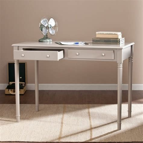 southern enterprises writing desk southern enterprises janice 2 writing desk in gray