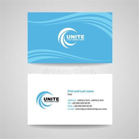 paper card wave template business card background template blue sky wave style