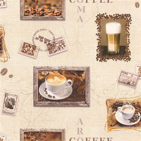 coffee wallpaper for kitchen rasch coffee motif cappuccino mocha photo embossed vinyl