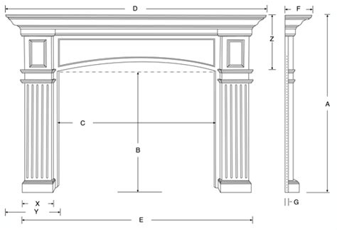 standard height for fireplace mantel exterior