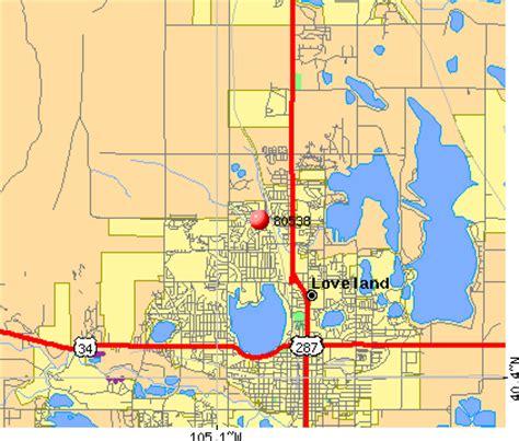 loveland colorado map loveland zip code map zip code map