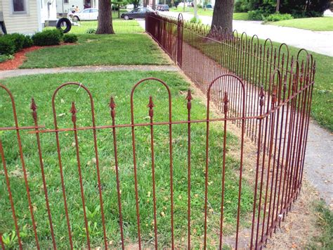 Wrought Iron Garden Fence by Wrought Iron 4 Fencing Metal Fence To Enclose Yards