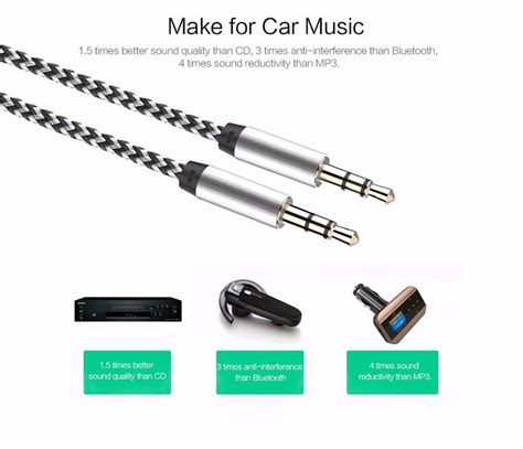 Charger Xiaomi Mi6 Mi5 Mi4c 3 0 Fast Charging Original Type C 1m aux cable 3 5mm to 3 5 mm to auto