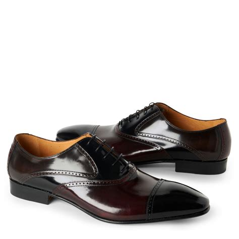 two toned oxford shoes stemar two toned oxford shoes in black for lyst