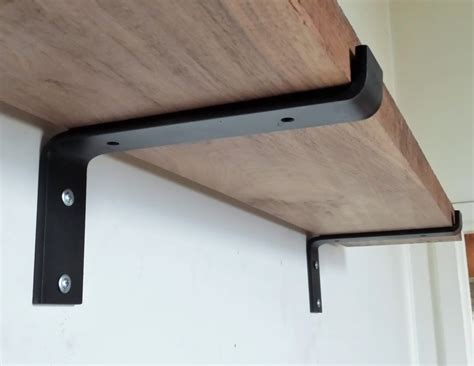10 industrial light load shelf bracket black iron