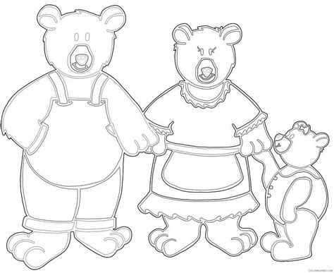 templates for pages 4 3 goldilocks and the three bears mask templates sketch