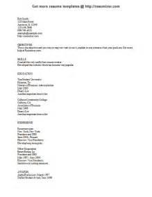 Text Resume Format Text Resume Resume Format Download Pdf