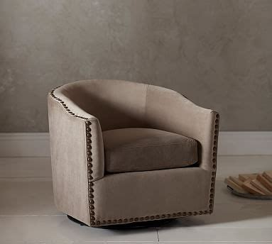 pottery barn swivel club chair harlow upholstered swivel armchair pottery barn