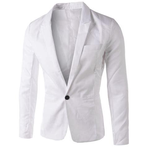 Button Veste Blazer Vest Jaket Outer Wanita White brand white blazer 2015 new arrival mens slim fit blazer jacket korean stylish single button