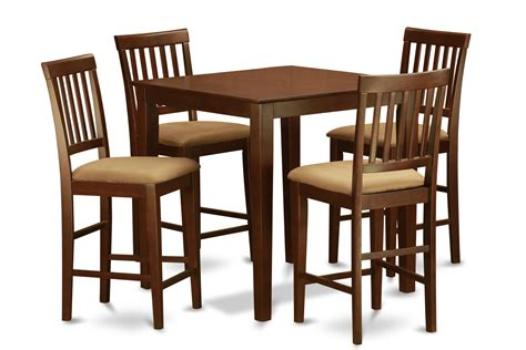 5 Piece Counter Height Dining Set Pub Table And 4 Dinette Bar Table Dining