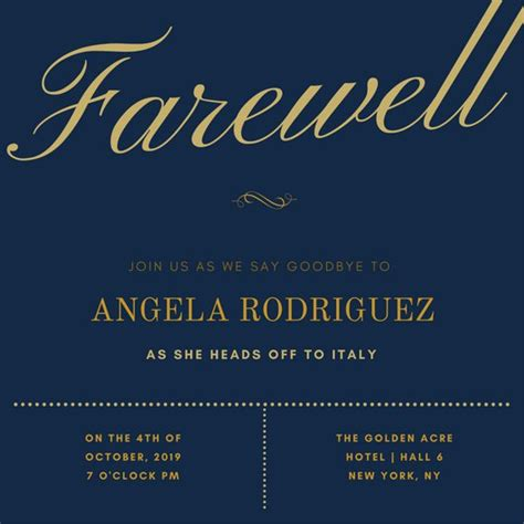 farewell invitation template farewell invitation templates canva