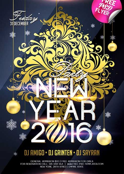 new year template psd the best free new year flyer psd templates for