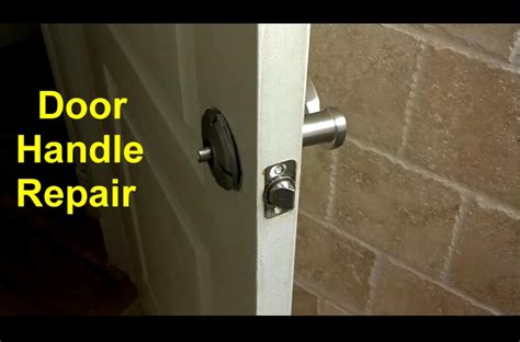 How To Replace A Front Door Knob by Home Door Handles Or Broken Diy Fixes Home Repair