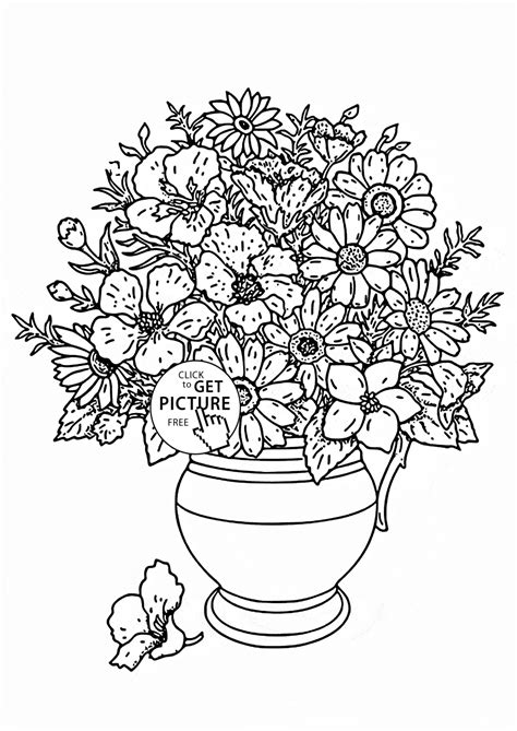 Flowers In Vase Coloring Pages by Flowers In Vase Coloring Pages Snap Cara Org