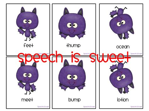 words that rhyme with room speech is sweet bats at the speech room