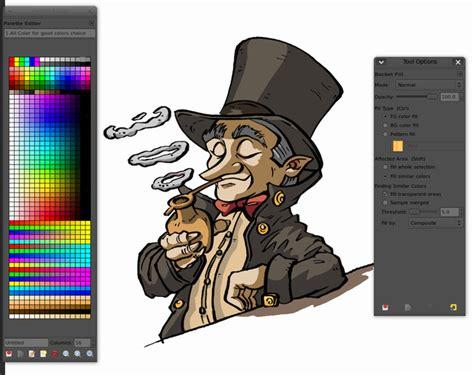 comics inking  coloring  gimp  david revoy