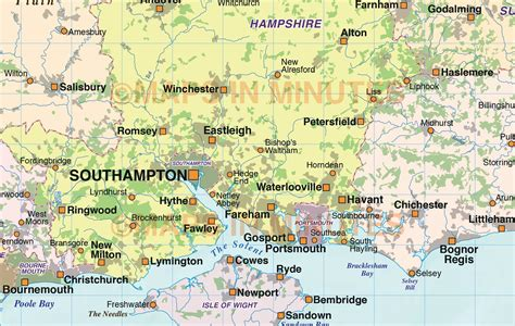 map uk south east digital vector south east map with strong shaded