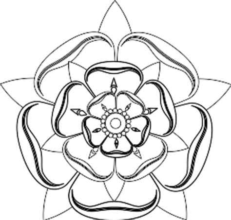 tudor rose coloring page small tudor roses to colour in clipart best
