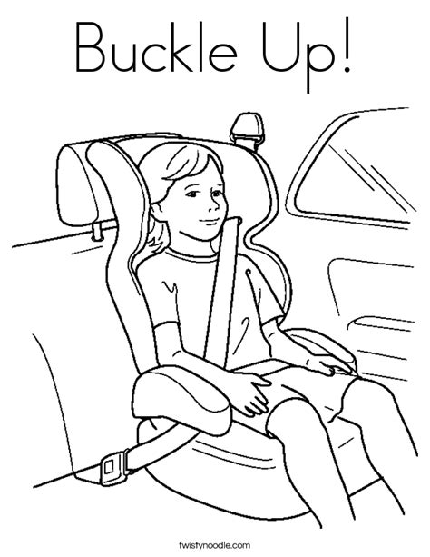buckle up coloring page twisty noodle