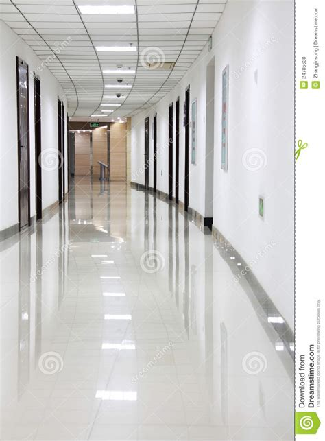 Corridor Kitchen Design by Curved Office Hallway Royalty Free Stock Photos Image