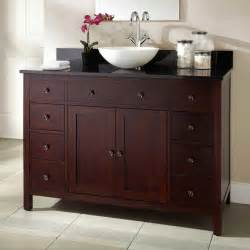 48 quot vargas cherry vessel sink vanity bathroom vanities