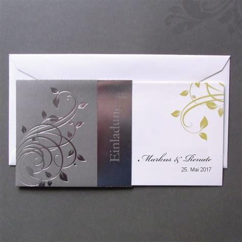 Einladungskarten Zur Silberhochzeit by Einladungskarte Zur Silberhochzeit Im Todschicken Design