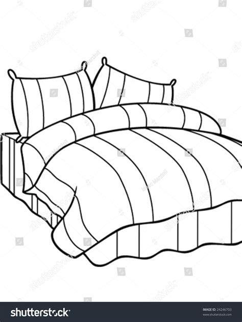 bed vector comfortable bed vector illustration stock vector 24246703