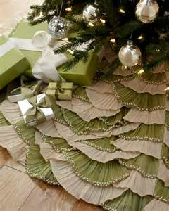 natural sage ruffled christmas tree skirt