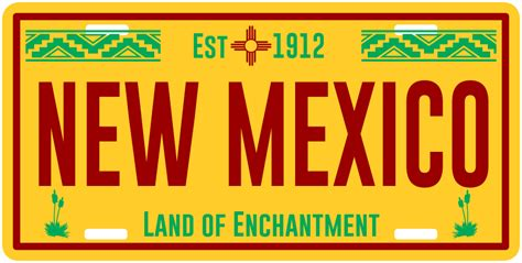 New Mexico Vanity Plates by Authentic New Mexico License Plate Ziagifts