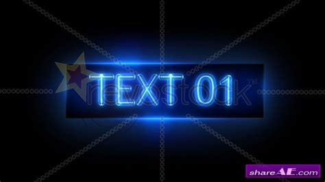 revostock after effects templates neon sign after effects project revostock 187 free after