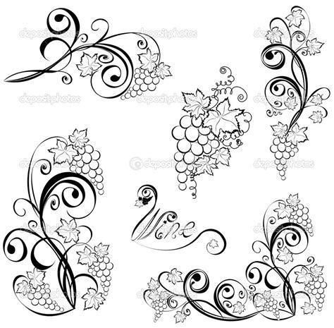 grape vine tattoo designs grape vine tattoos grapevine wine design elements