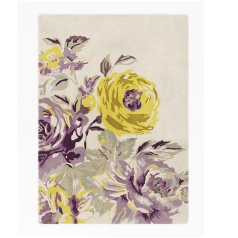 purple and yellow rug pemberley floral rug from m s on the hunt