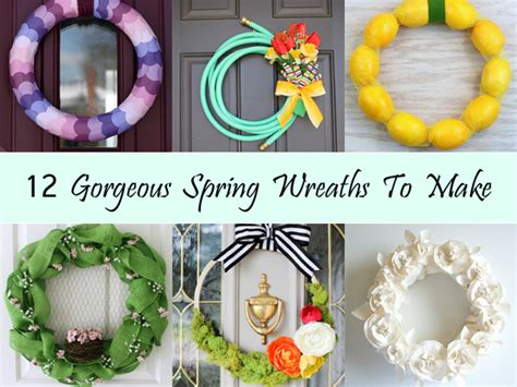 spring wreaths to make 12 gorgeous spring wreaths to make
