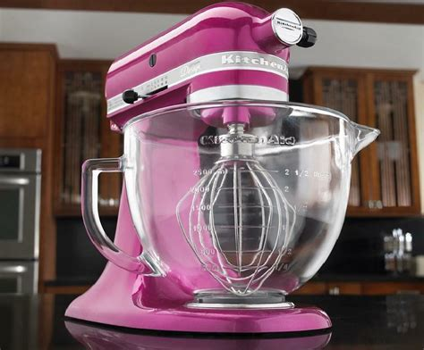 kitchenaid raspbery ice tilt artisan stand mixer  glass bowl ksmgbri purple  ebay