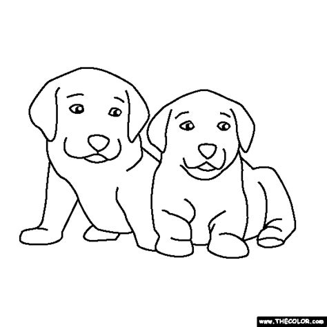 coloring pages of two dogs free online coloring pages thecolor