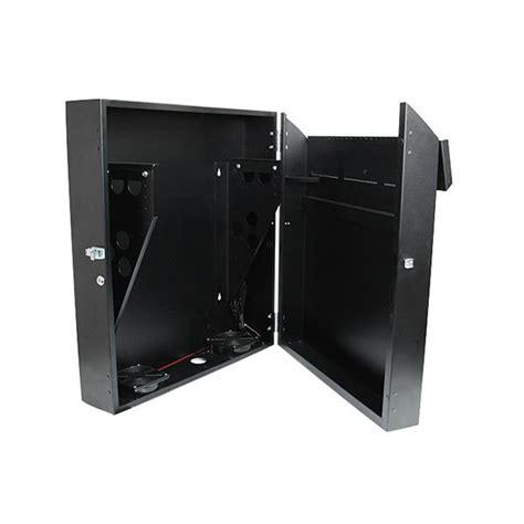 horizontal wall mounted cabinet server rack 4u 19in secure horizontal wall mountable