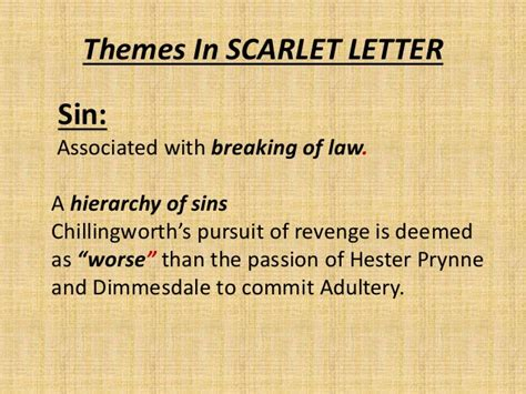 important themes of the scarlet letter themes and symbol in the scarlet letter
