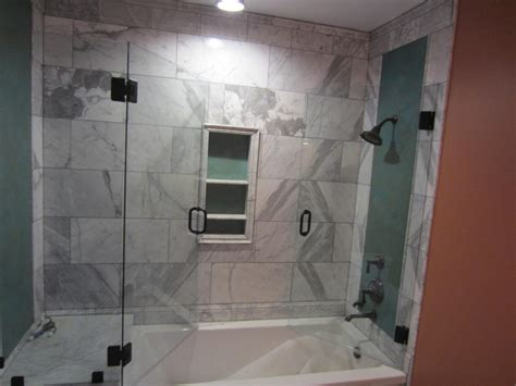 bathtub in shower enclosure tub and shower frameless enclosure patriot glass and