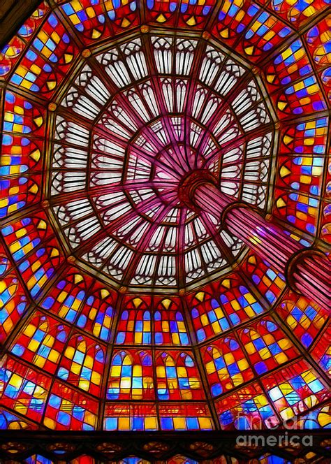 the stained glass ceiling photograph by judi bagwell
