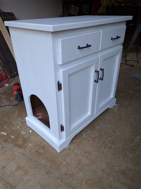 how to turn an cabinet into the cat litter box