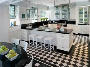 Black And White Kitchen Floor Black And White Kitchen Flooring Your Home