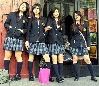imagenes de escolares japonesas volta as aulas uniformes