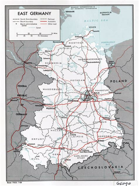 map of east germany large political and administrative map of east germany